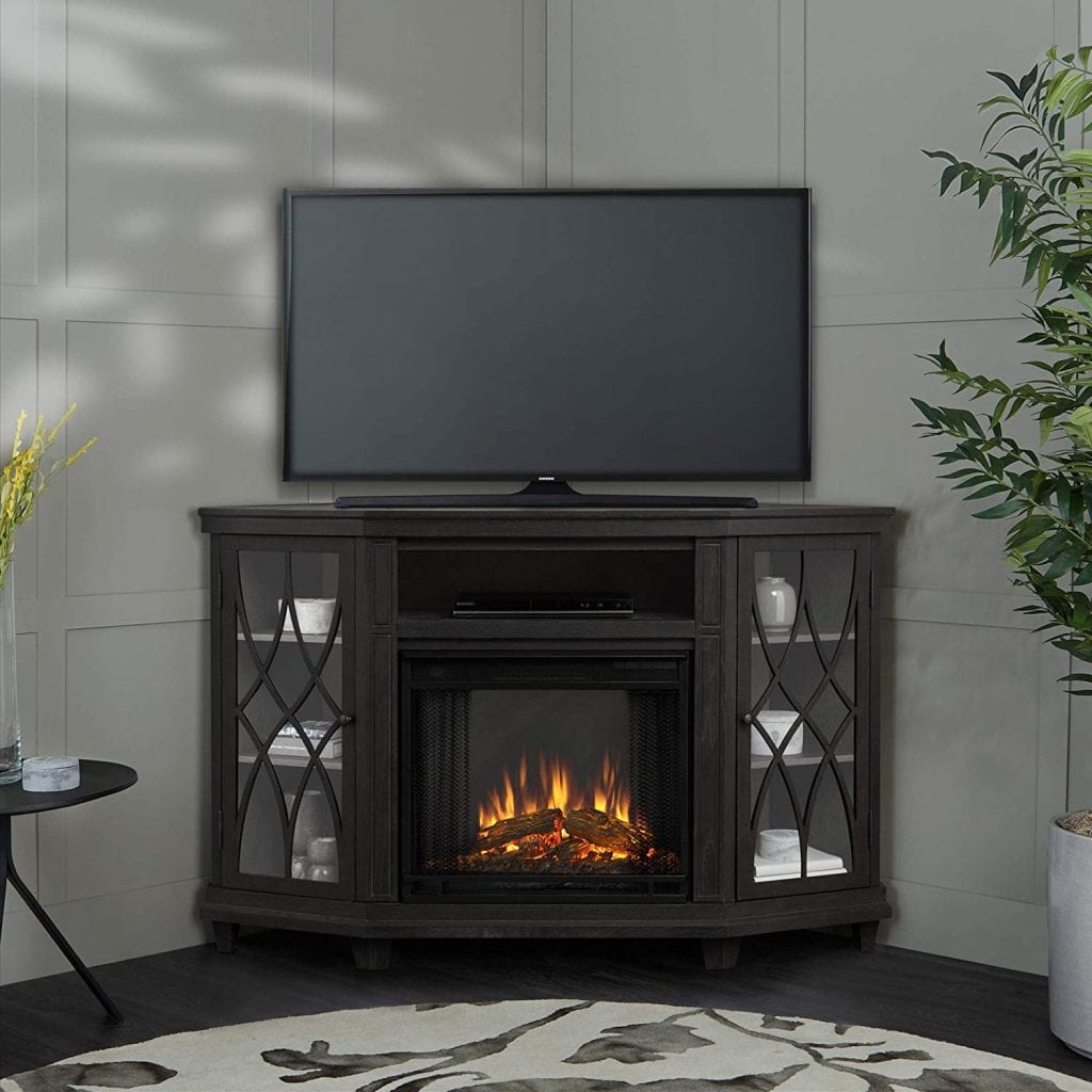 Lynette Electric Fireplace in Gray Finish by RealFlame