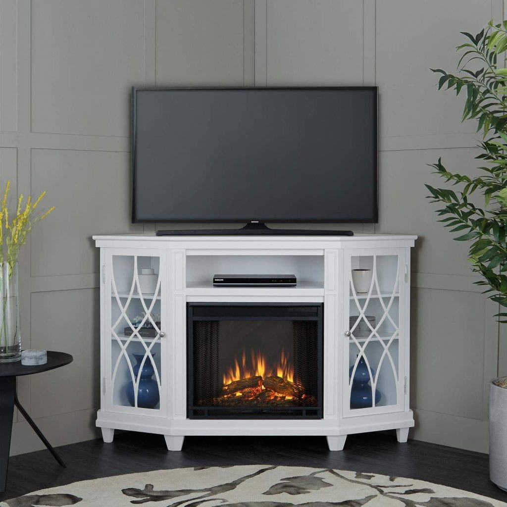 Lynette Electric Fireplace in White Finish by RealFlame