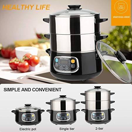 Electric Food Steamer by Secura