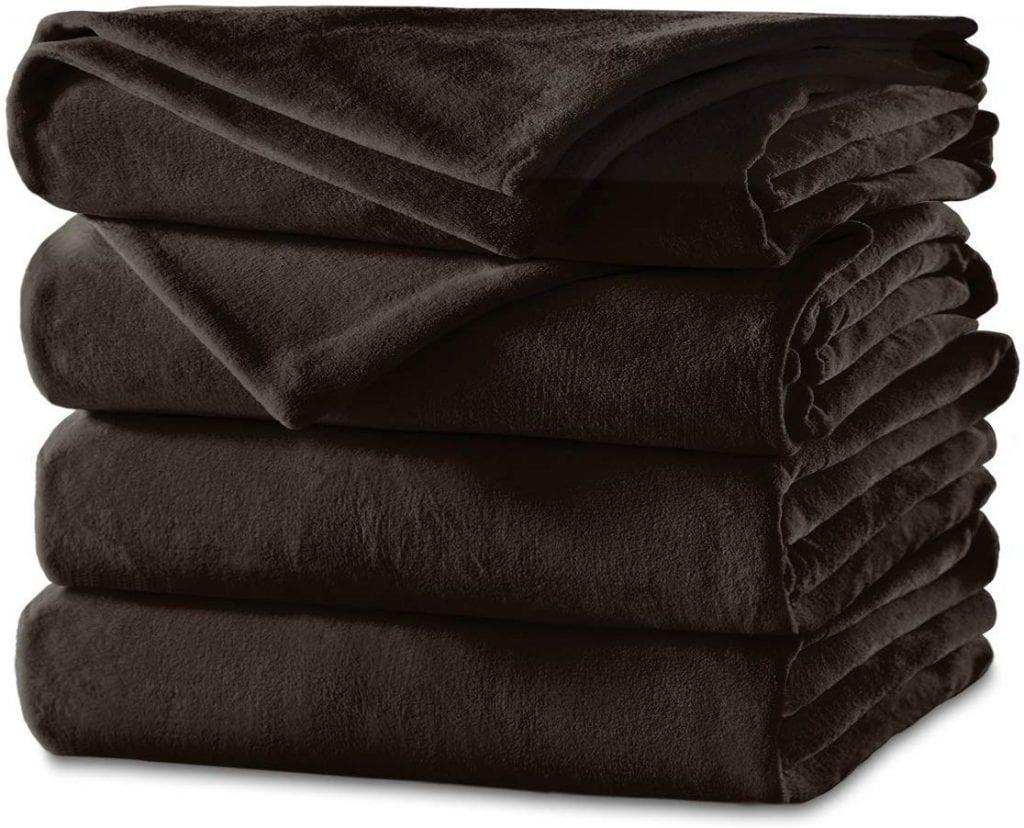 Sunbeam Velvet Plush Electric Heated Blanket