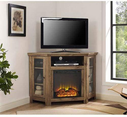 Wood Corner Media TV Stand by Walker Edison