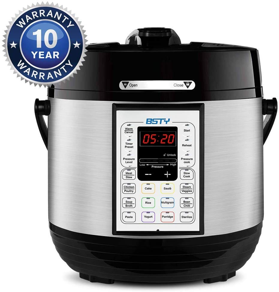 BSTY Premium 6 Quart Pressure Cooker