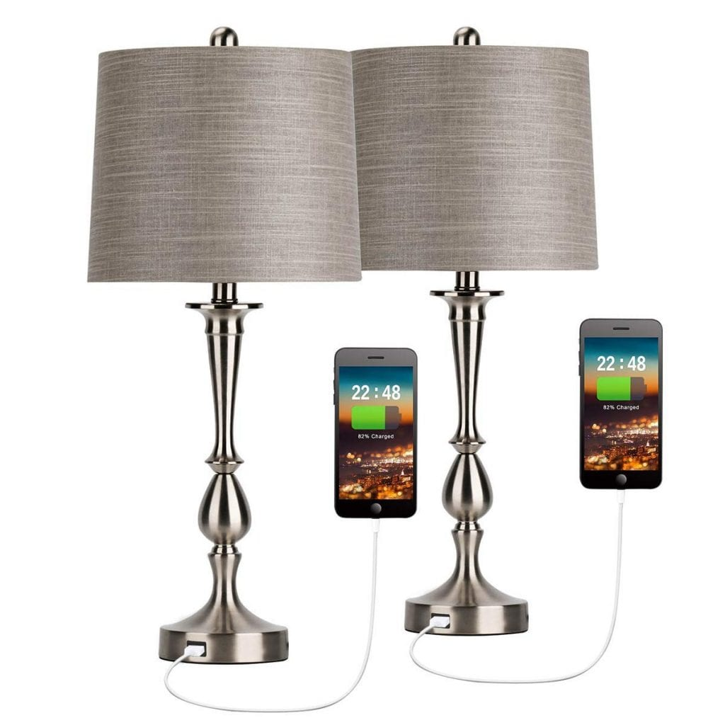 Oneach USB Table Lamp-Set of 2