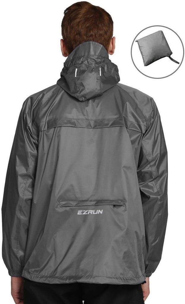 EZRUN Men's Waterproof Hooded Rain Jacket