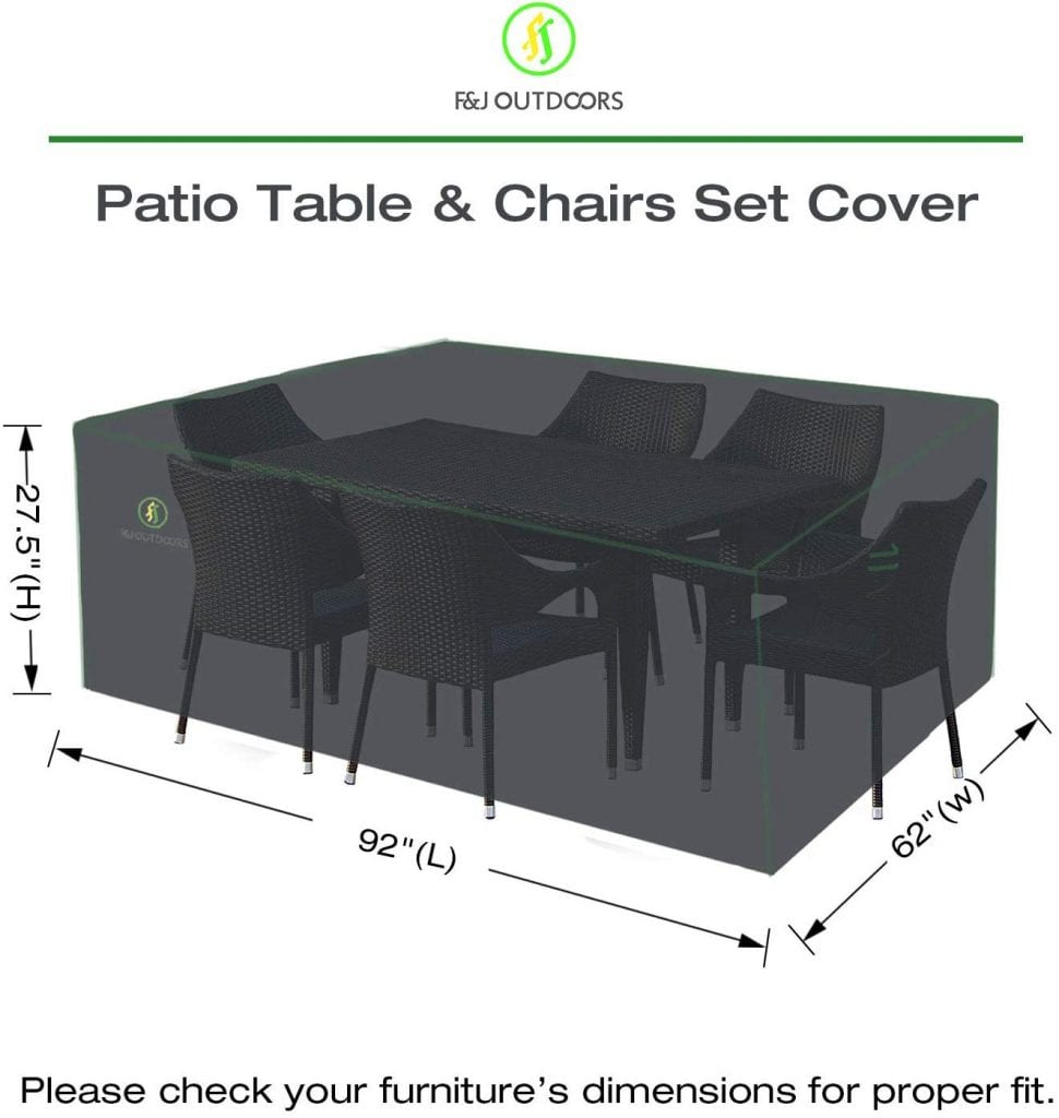 Patio Table and Chairs Furniture Set Cover
