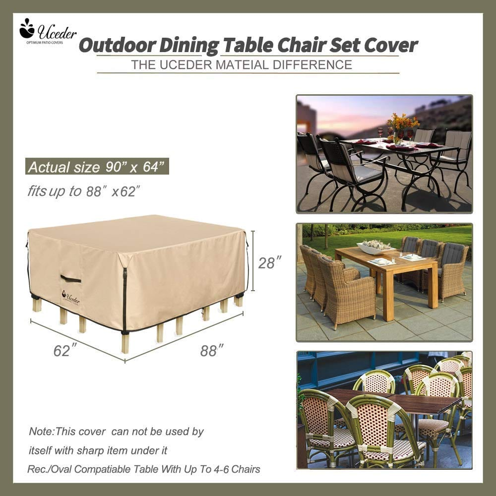 Waterproof Outdoor Dining Table Covers