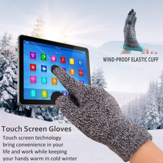Touch Screen Winter Gloves for Men