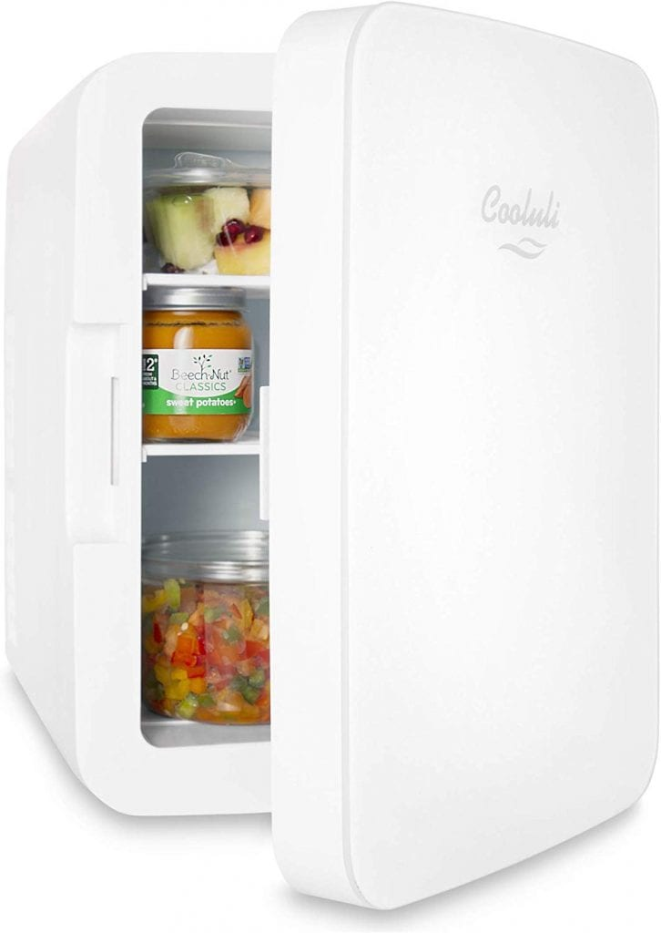 Compact Mini Cosmetic Fridge by Cooluli