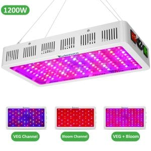 Exlenvce 1500W 1200W LED Grow Light Full Spectrum for Indoor Plants