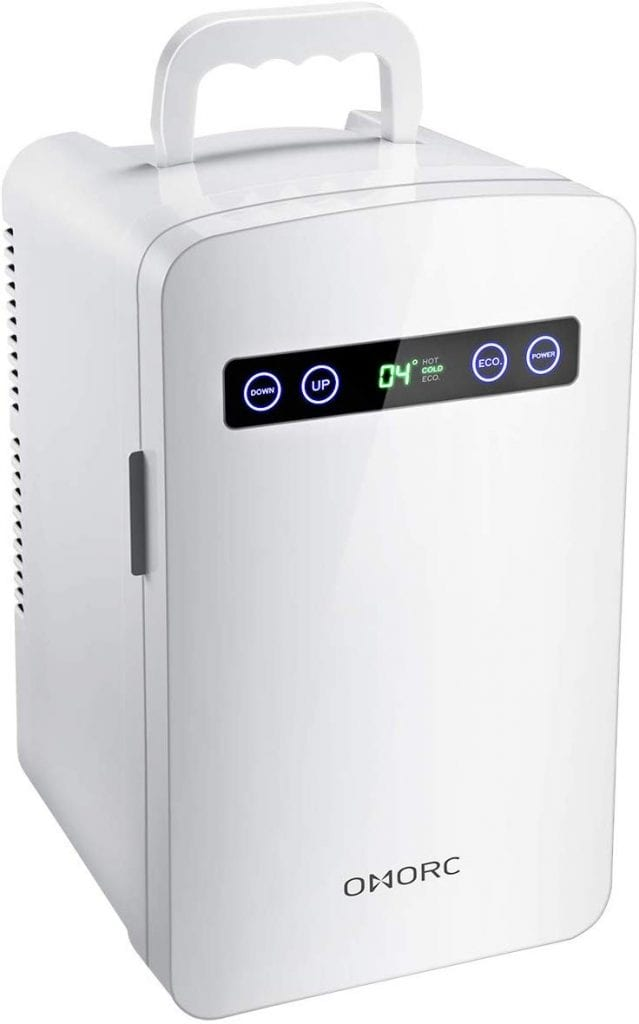 OMORC Mini Fridge Warmer and Cooler 10L