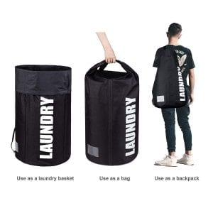 RIBOLI Laundry Backpack Hamper Basket