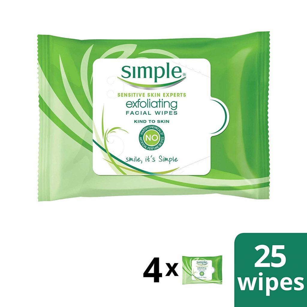 Simple Face Skin Exfoliating Facial Wipes