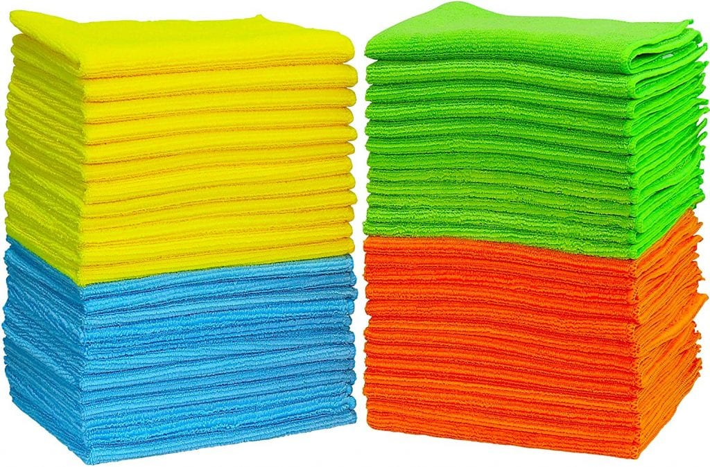 Simple Houseware Microfiber Cleaning Cloth -50 pack
