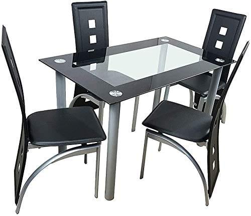 Amailtom 5 Piece Dining Table Set
