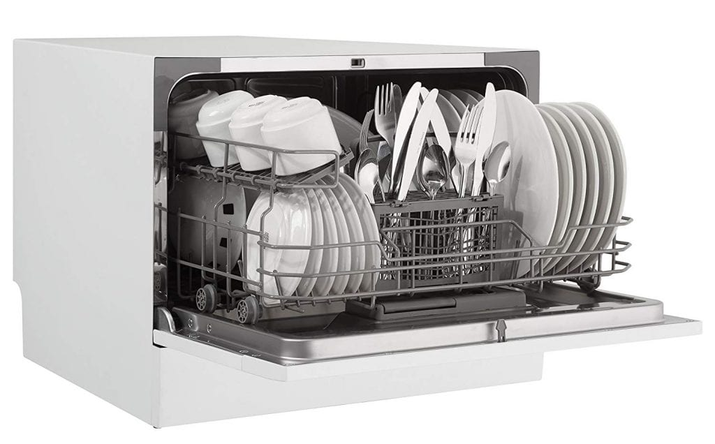 Danby White Countertop Dishwasher