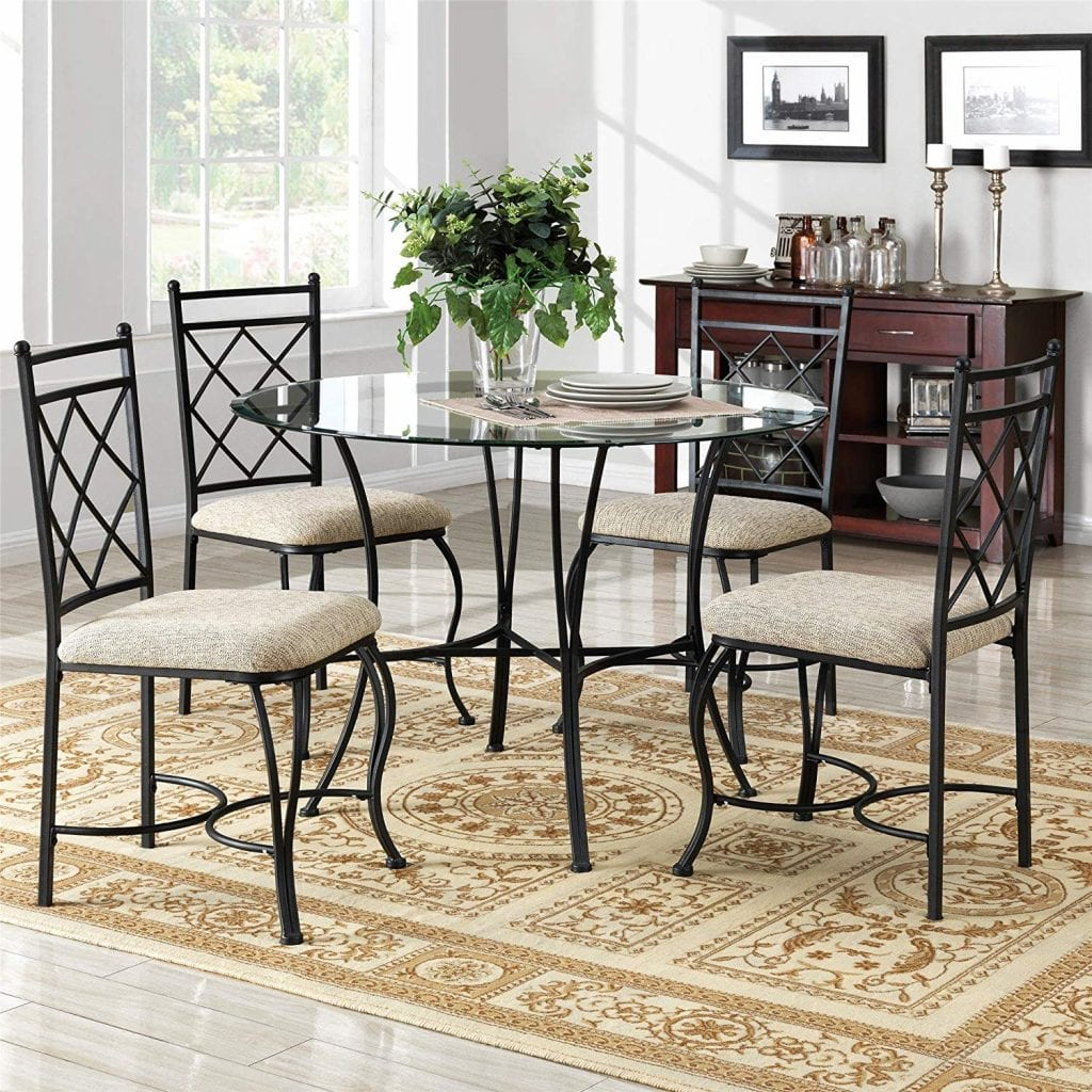 Dorel Living Dining Room Table Set with 4 chairs