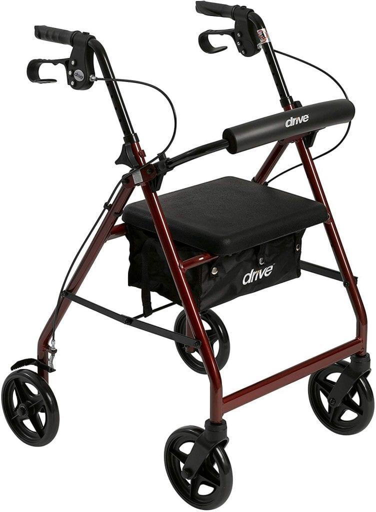 Drive Medical walkers with Padded seat and wheels