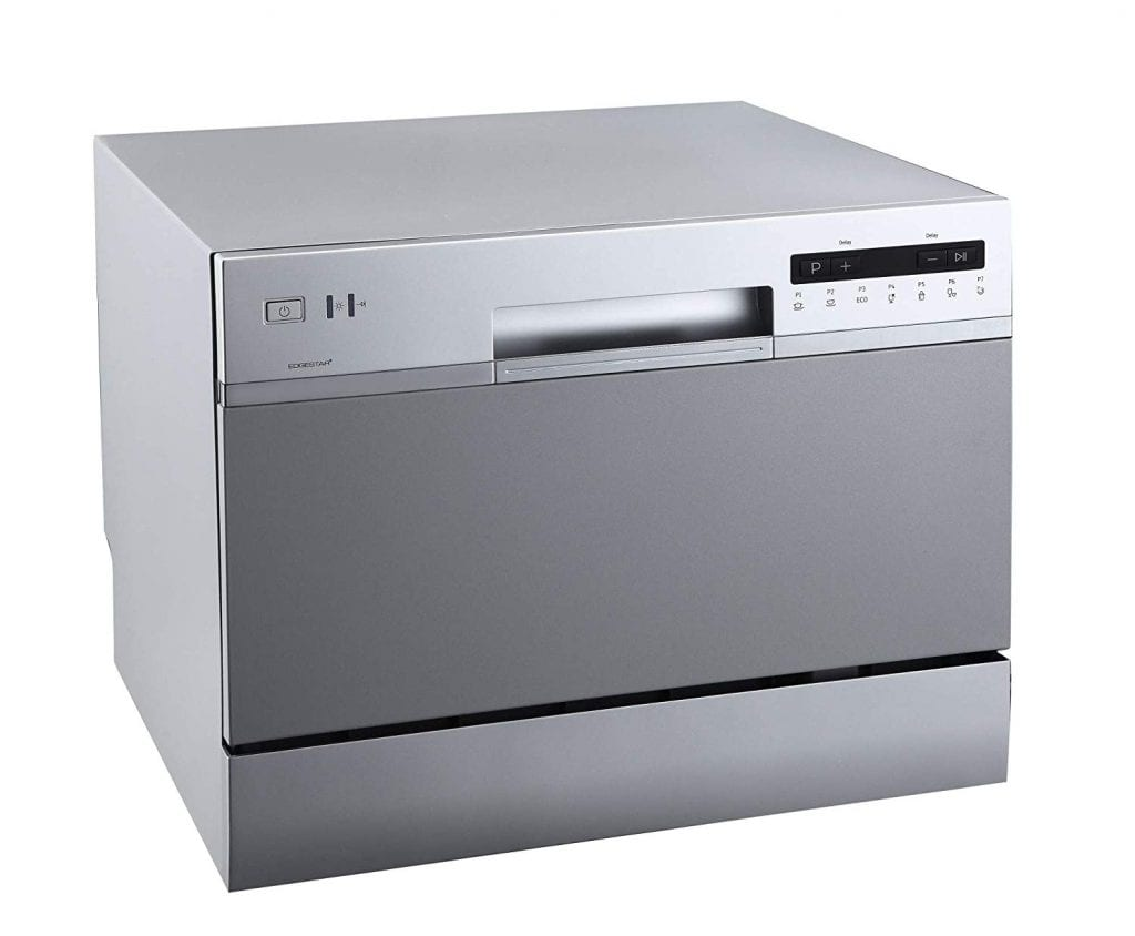 Edge star portable Countertop Dishwasher with 6 Place setting