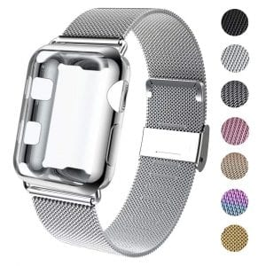 GBPOOT Apple Watch Band with Screen protector and sports wristband strap replacement band