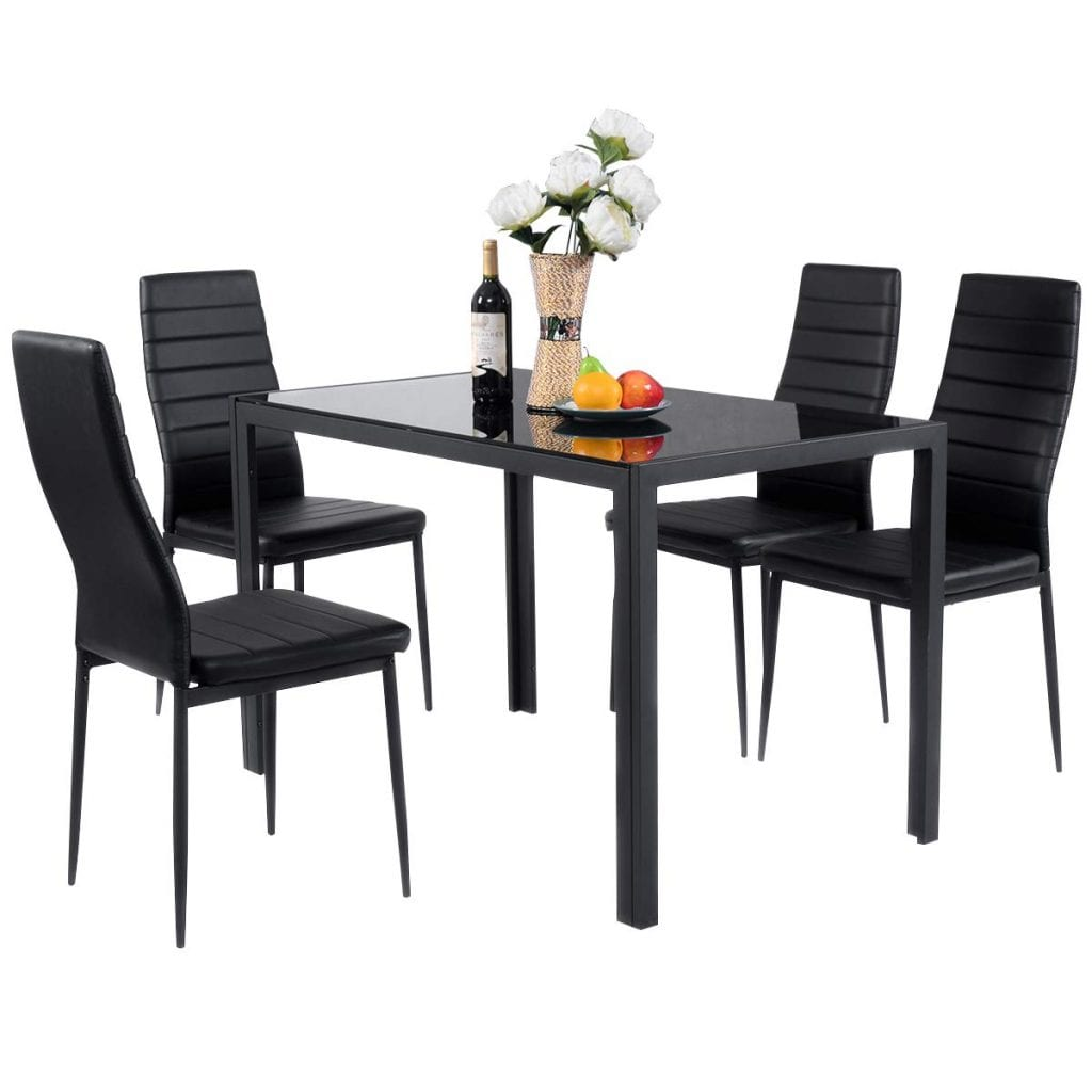 Giantex Dining Table Set with 4 Chairs