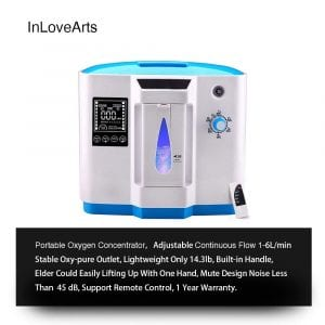 INLOVEARTS Portable Oxygen Concentrator