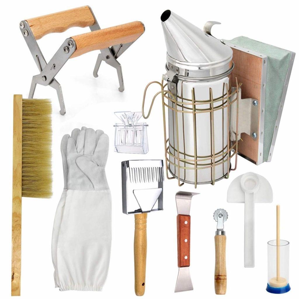 LTLR Beekeeping Honey Tools Kit Set of 10