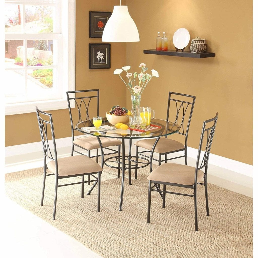 MSS 5-Piece Metal round Dining Table Set