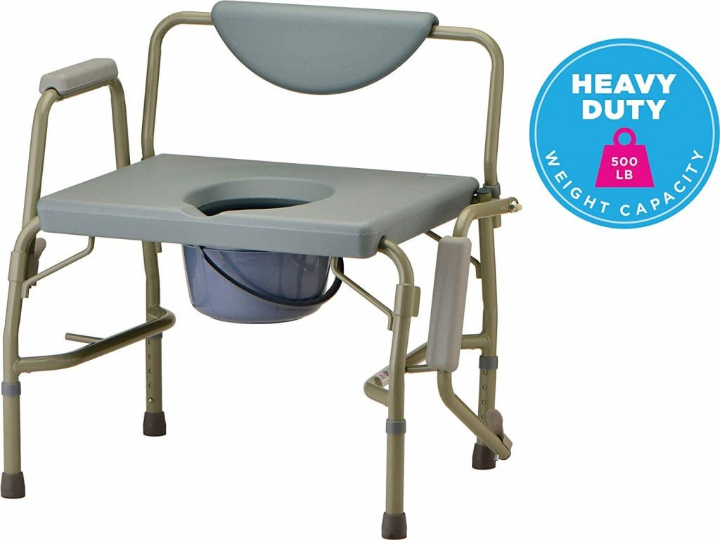 NOVA Heavy Duty Bedside Commode Chair with Drop-Arm