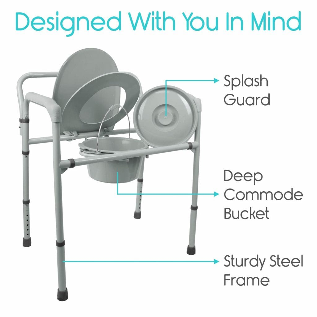 Vive Bariatric Bedside Commode