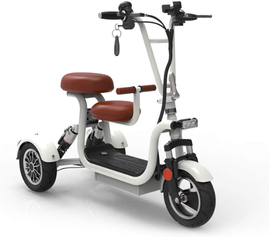 WLY Portable Lithium Battery Shock Absorption Electric Three-Wheel Scooter