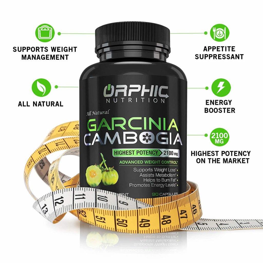 100% Pure Garcinia Cambogia 95% Extract HCA 2100mg Appetite Suppressant