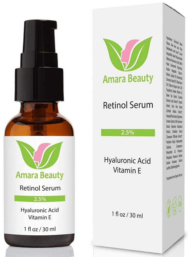 Amara Beauty Retinol Serum 2.5% with Hyaluronic Acid & Vitamin E