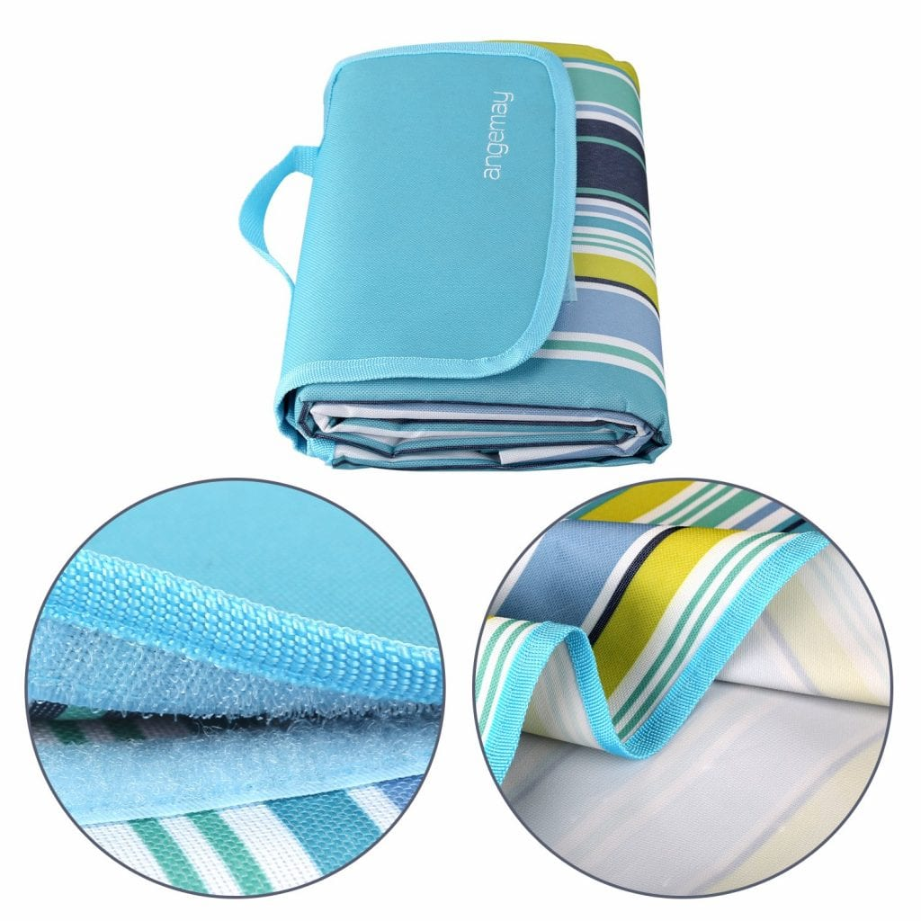 Angemay Outdoor And Picnic Blanket With Extra Sand And Water Proof