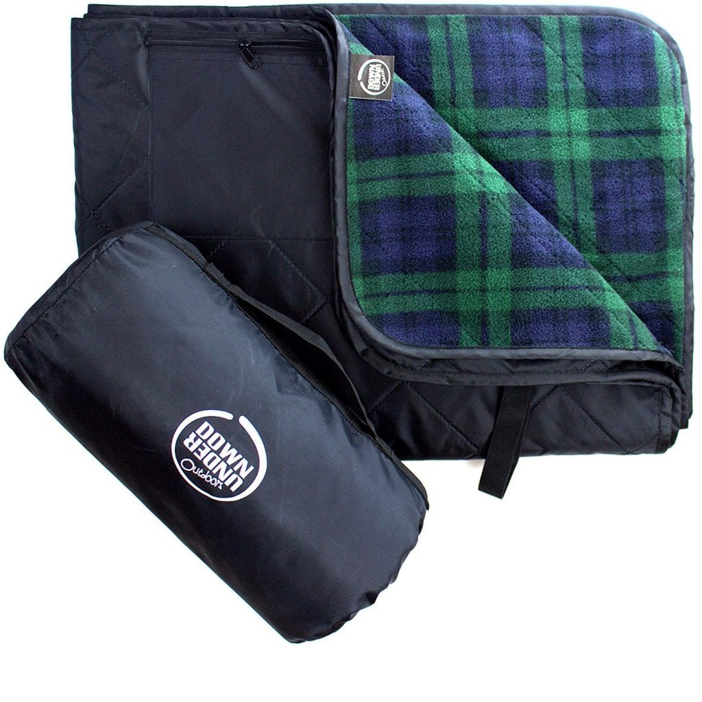 Down Under Outdoors Large Waterproof And Wind Proof Quilted Stadium Blanket