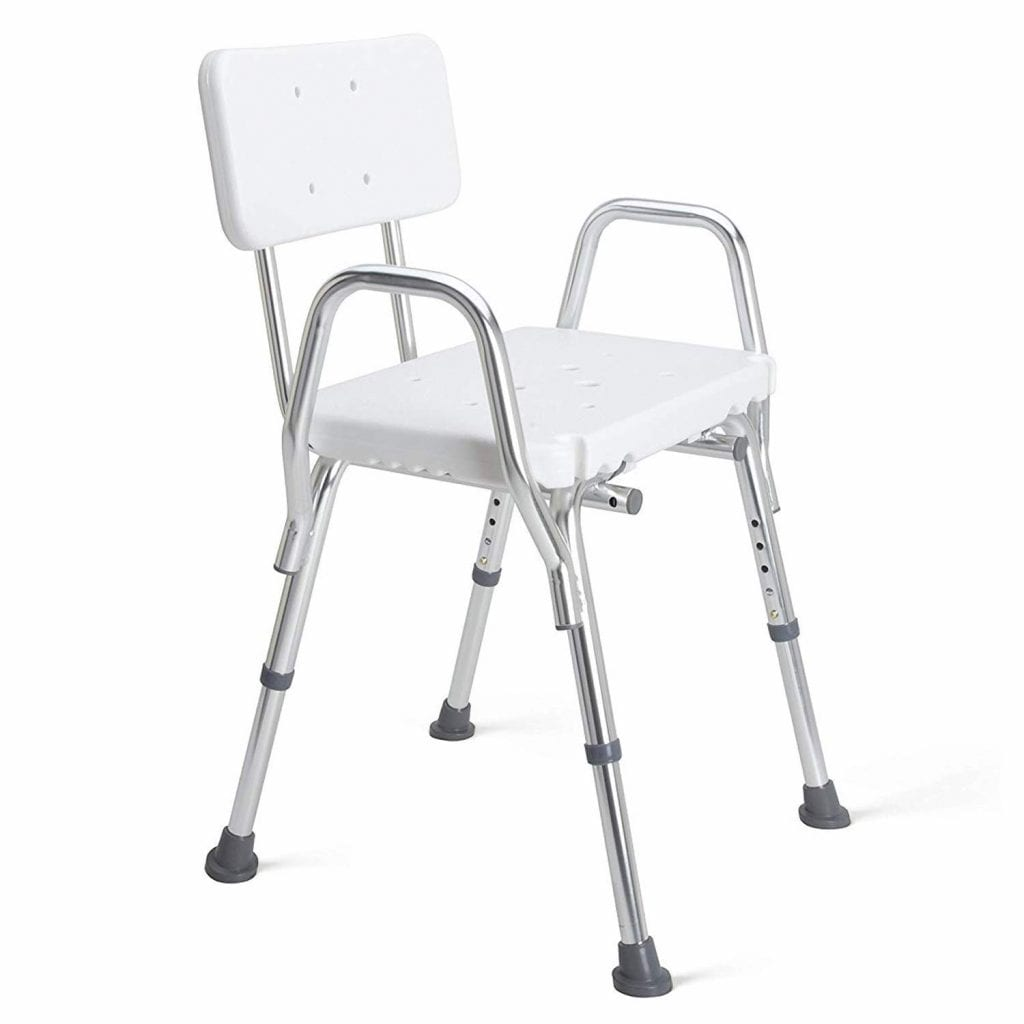 Duro-Med Shower Chair with Arm and Back Rest