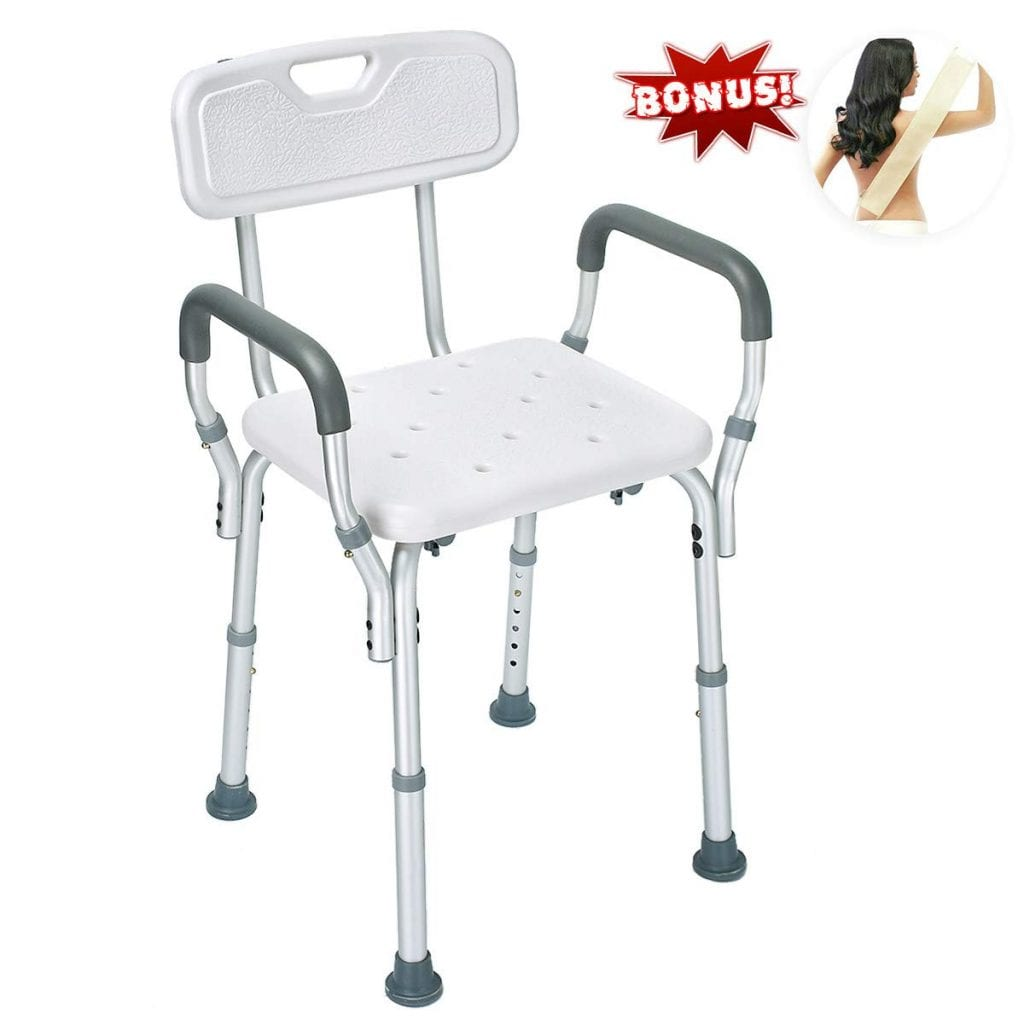 Health Line Shower Chair with Removable Back &Arms