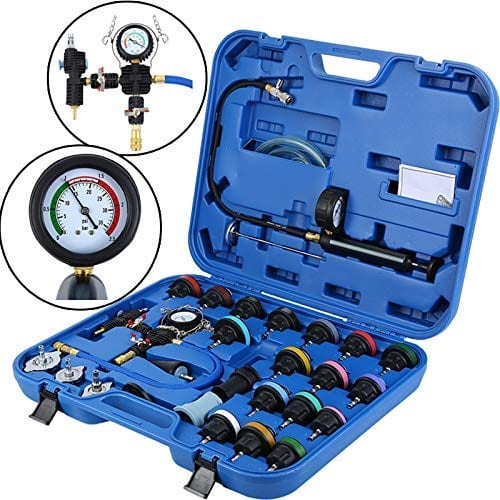 28 PCS Adapters Radiator Pressure Tester Kit Coolant Vacuum Type Cooling System