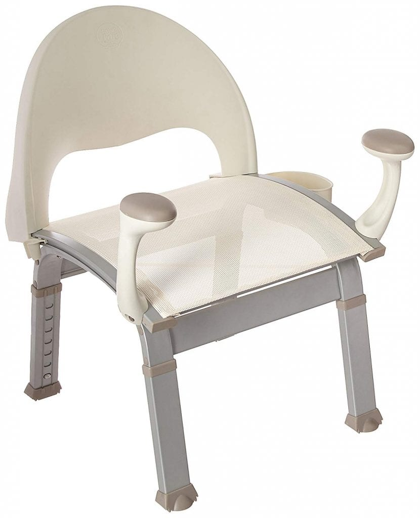Moen DN7100 Shower Chair with Back and Arm Rests