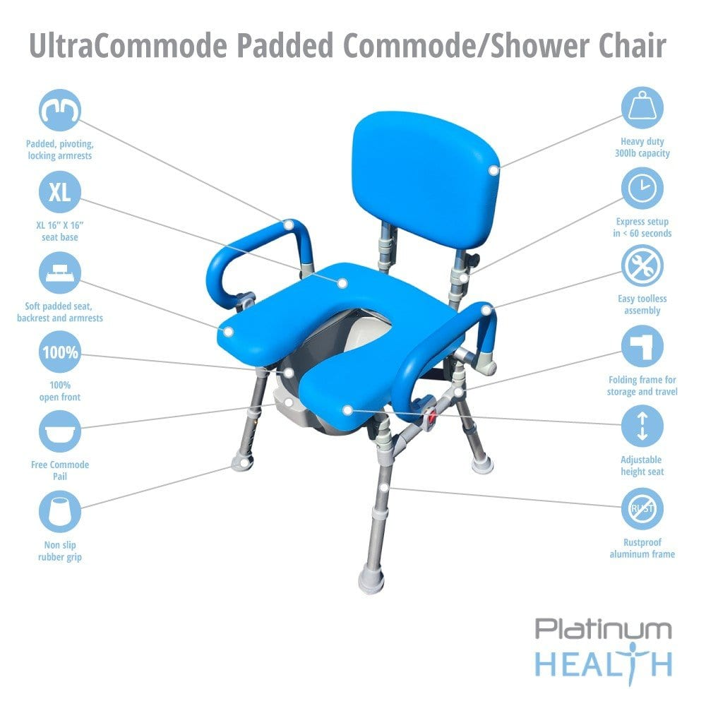 Platinum Health UltraCommode™ Foldable Commode/Shower Chair