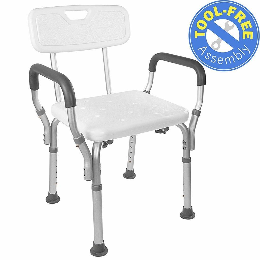 Vaunn Medical Tool-Free Assembly Spa Bathtub Shower Lift Chair