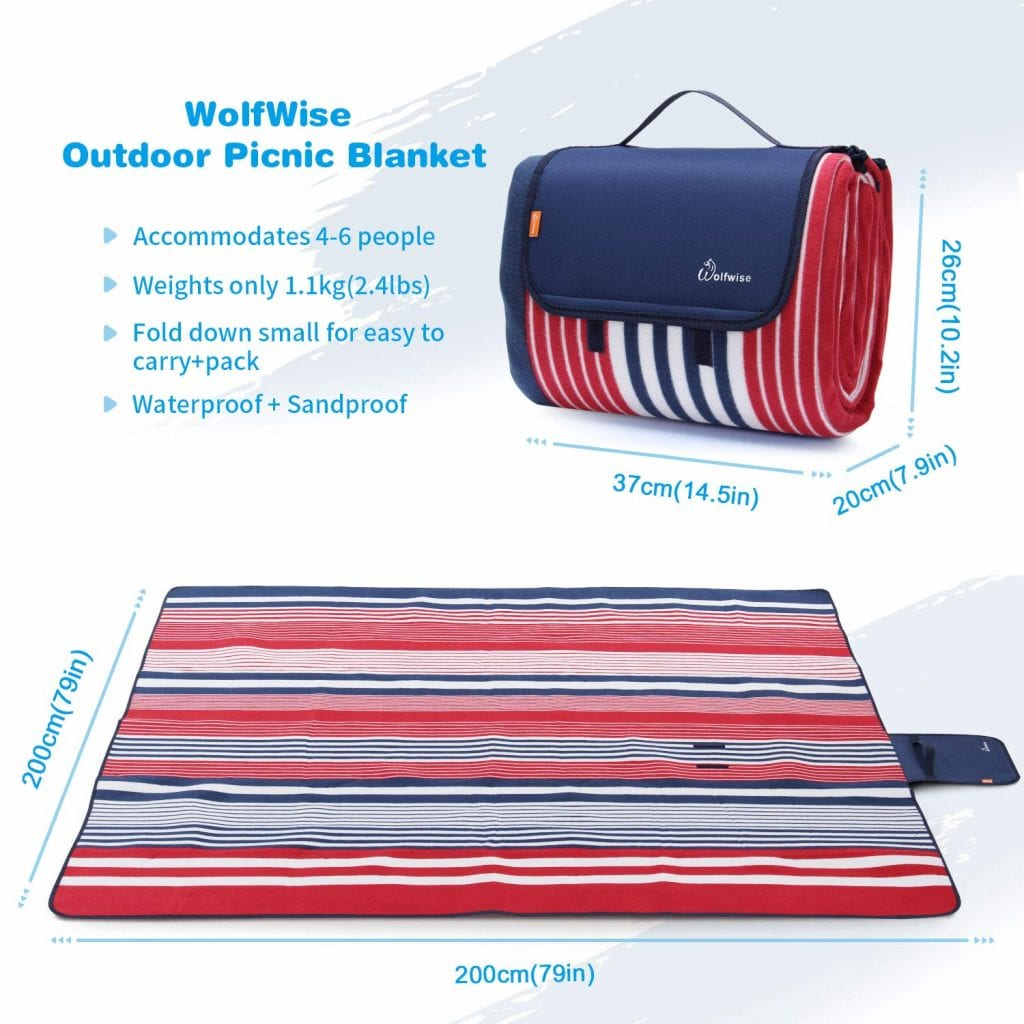 Wolf Wise XXL Picnic Blanket [Extra Large Blanket]