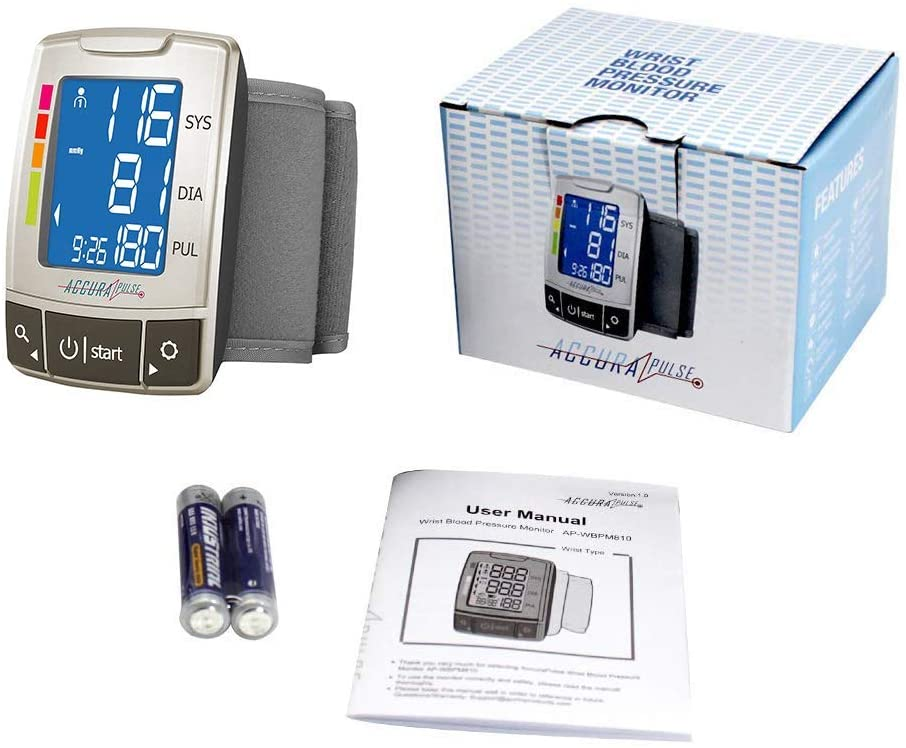 Accurapulse Automatic Wrist Blood Pressure Monitor
