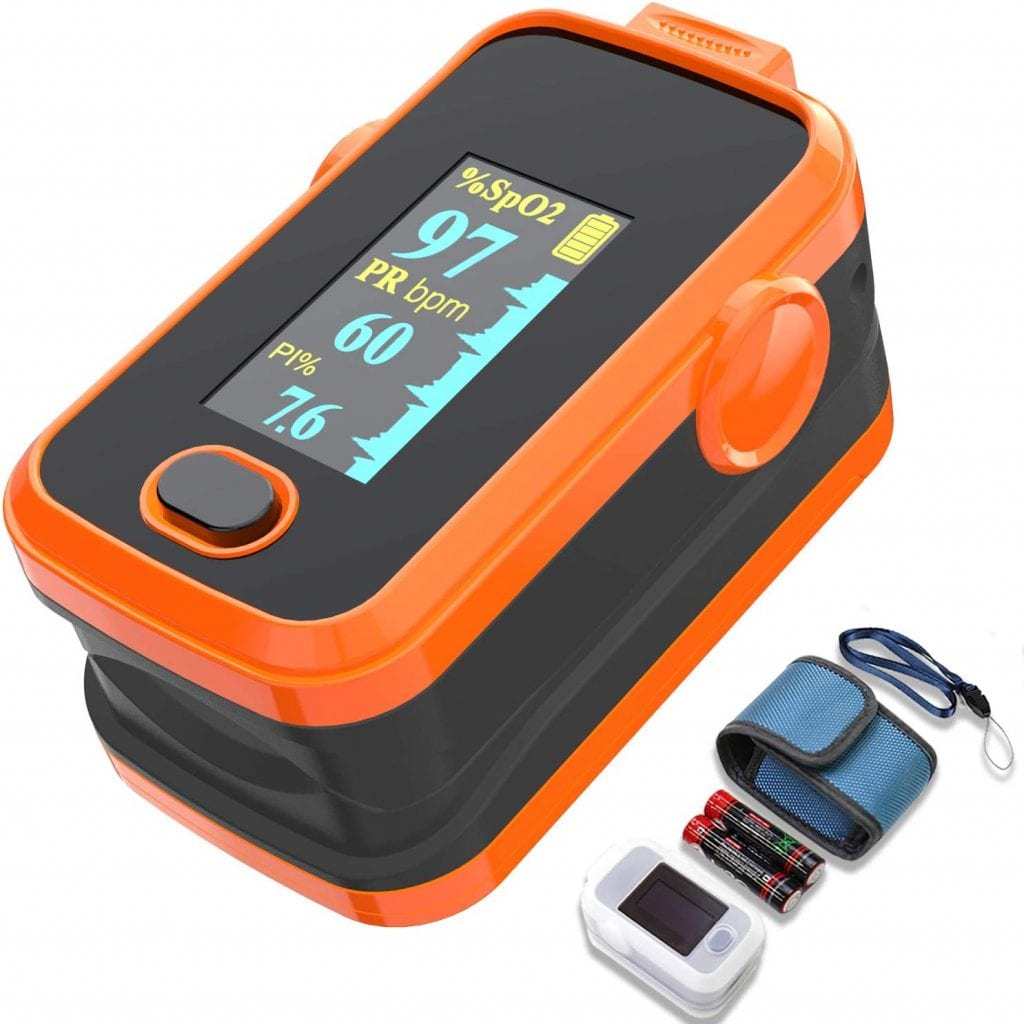 Pulse Oxygen Saturation Monitor with Plethysmograph and Perfusion Index