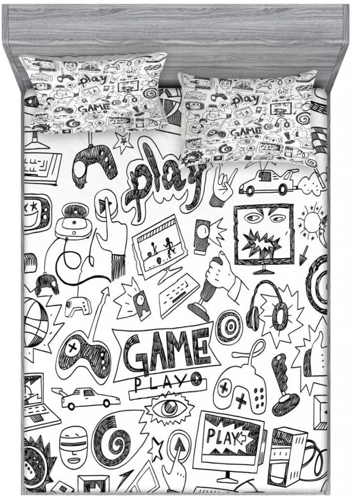 Ambesonne Video-Games Fitted Sheet