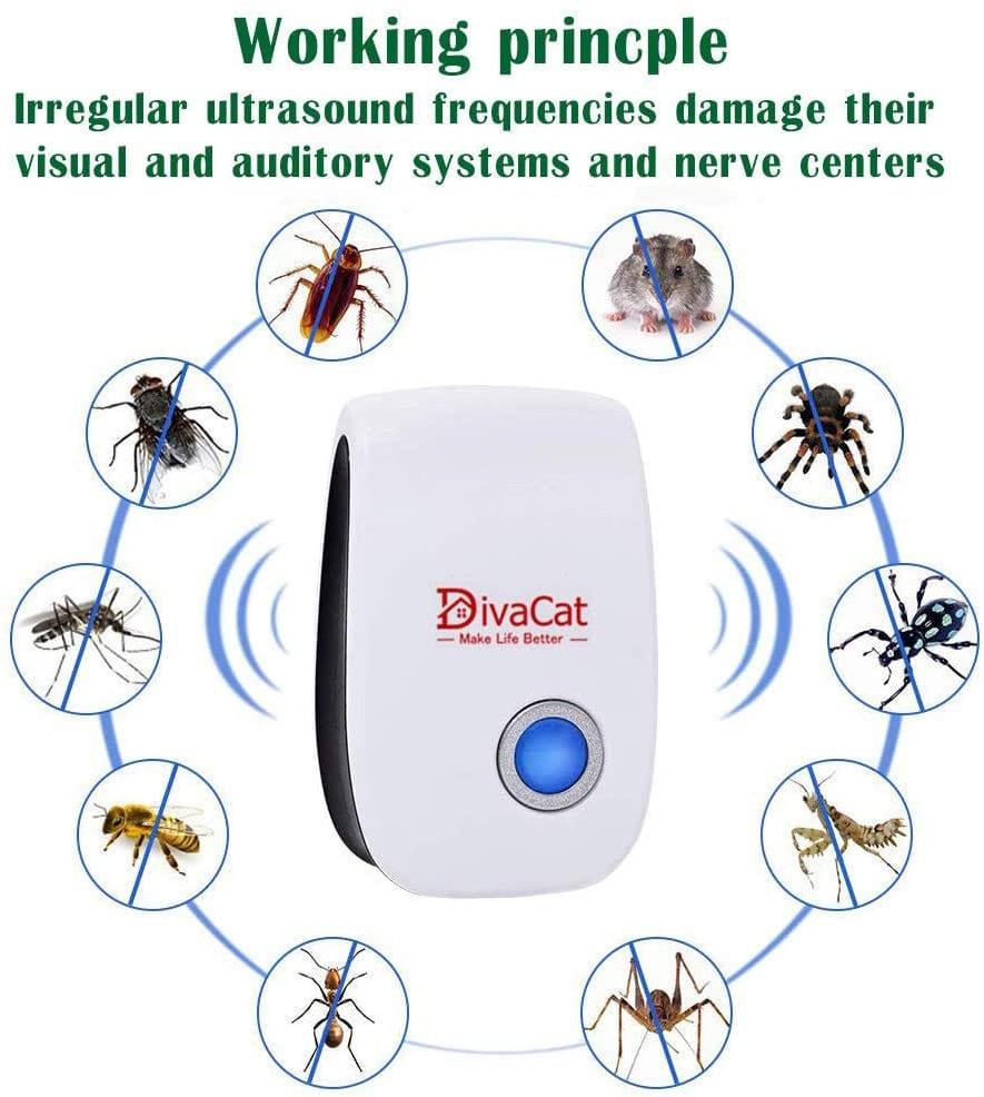 DivaCat 6-Pack Ultrasonic Pest Repeller