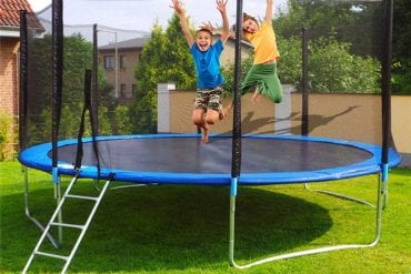 Outdoor Trampoline With Enclosure
