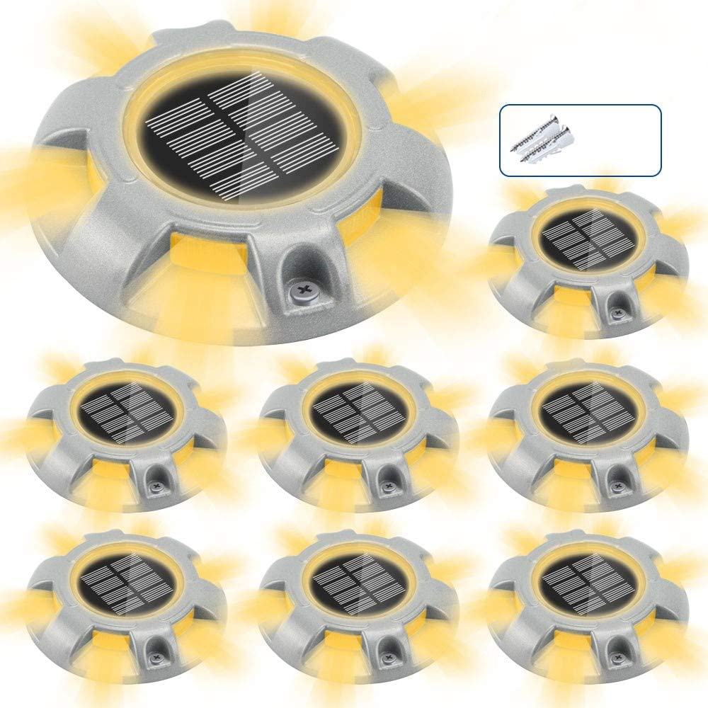 CHINLY Solar Driveway Lights LED