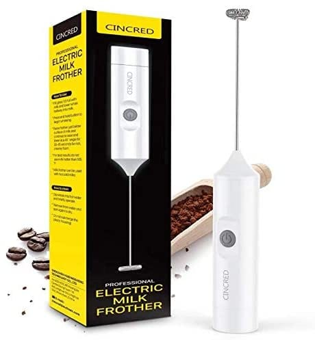 Cincred handheld battery operated Milk and Coffee frother