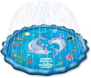 EPN Sprinkle-Pad for Kids Splash-Play Mat for Toddlers & Babies