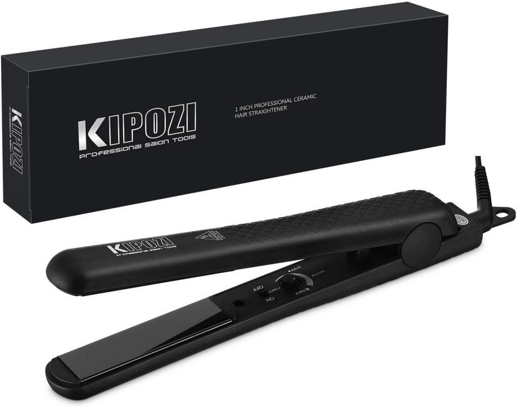 KIPOZI Black Anti Frizz Hair Straightener